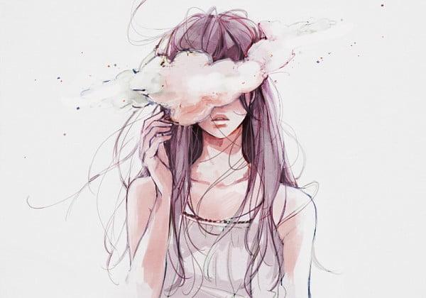Bức hình vẽ buồn về tình yêu của con gái