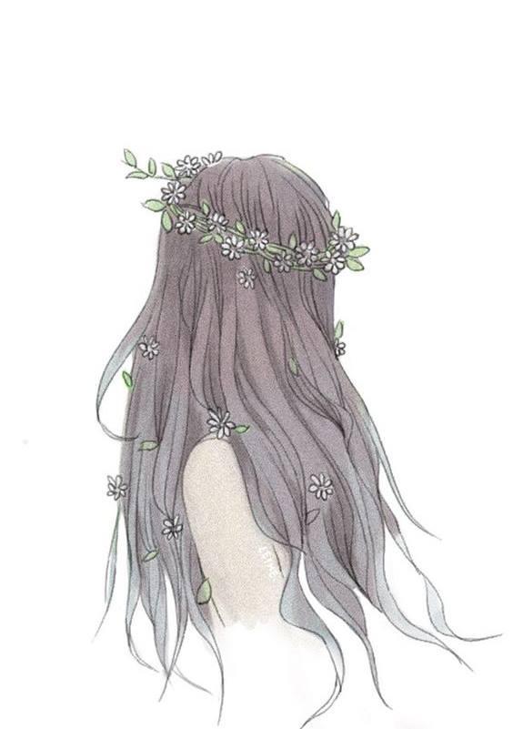 Bức hình vẽ cô gái buồn