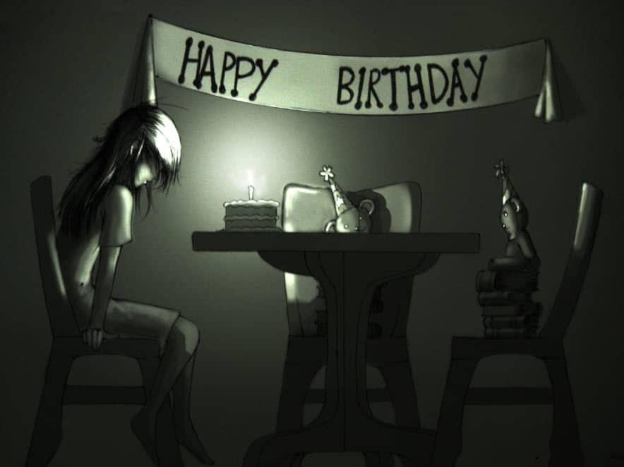 Bức tranh nói về tâm trạng khi sinh nhật một mình
