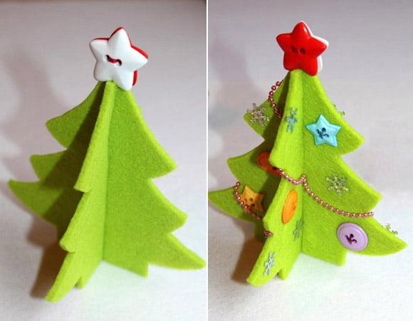 Cây thông Noel bằng giấy đơn giản