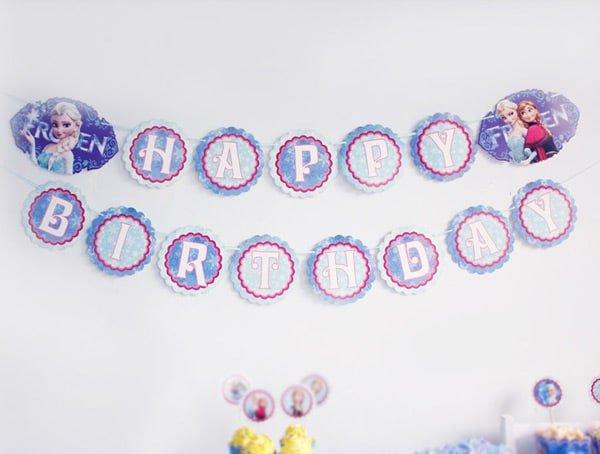 Chữ chúc mừng sinh nhật frozen
