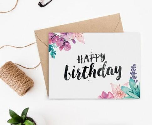 Chúc mừng sinh nhật với tạo hình giản dị