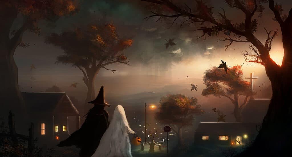 Hình 3D Halloween