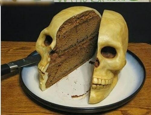 Hình ảnh bánh kem hộp sọ