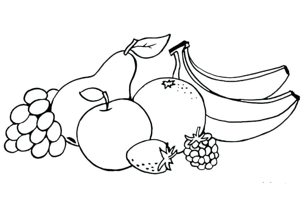 Tổng hợp các bức hình tô màu hoa quả, trái cây đẹp