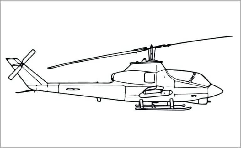 Tuyển tập tranh máy bay trực thăng cho bé tập tô