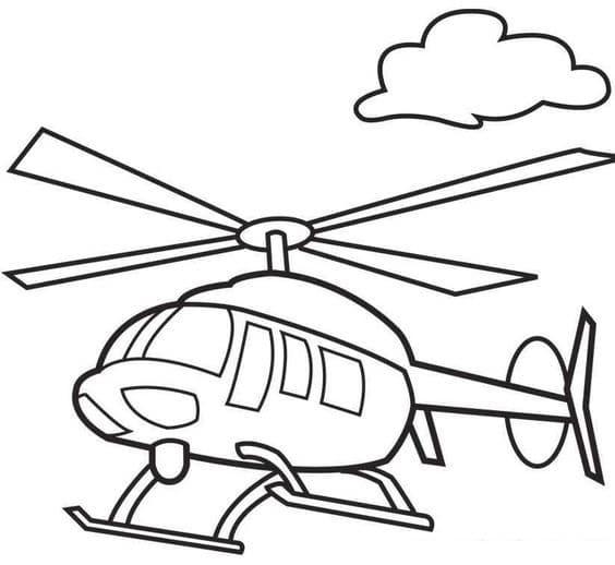 Hình ảnh máy bay trực thăng tô màu