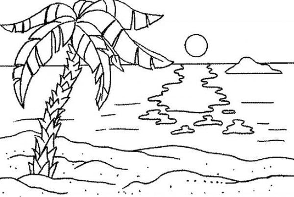 Hình ảnh phong cảnh mùa hè trên biển