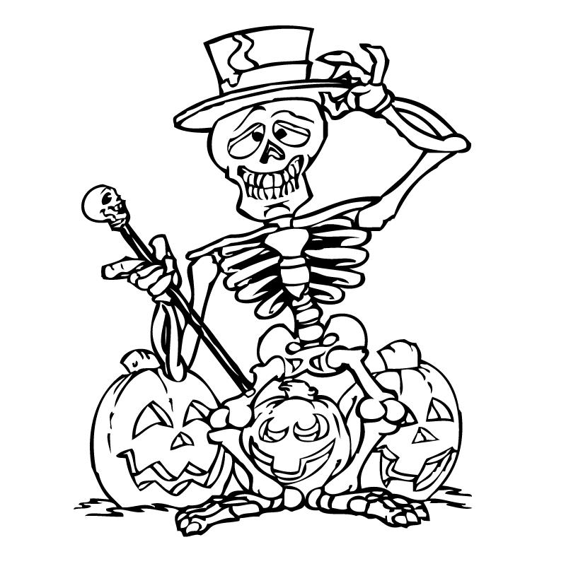 Hình bí ngô Halloween cho bé tập tô đẹp nhất