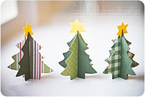 Hình cây thông Noel giấy cute