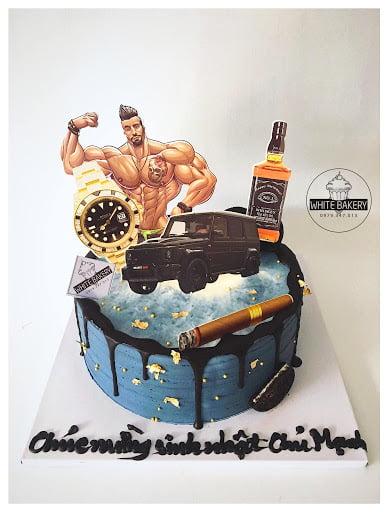 Hình chiếc bánh sinh nhật cho nam