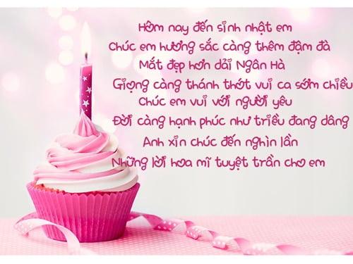 Hình chúc sinh nhật cho người yêu