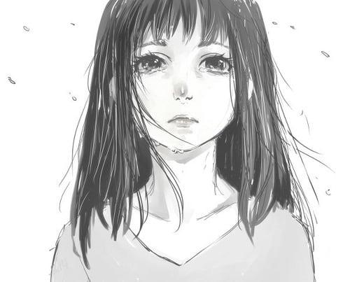 Hình cô gái khóc