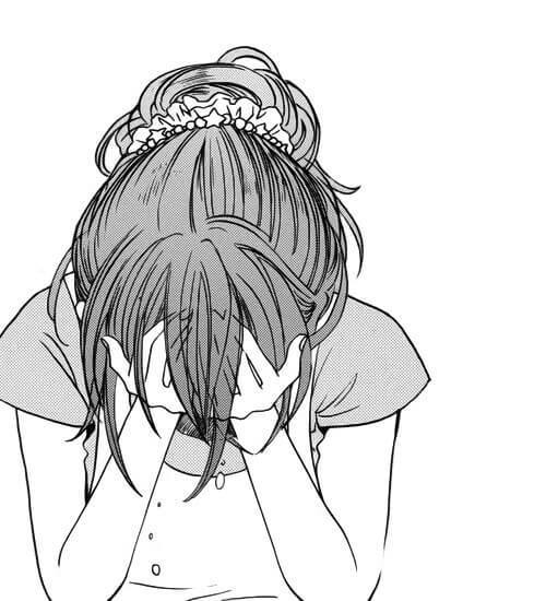 Hình cô gái ôm mặt khóc