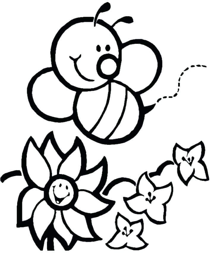 Tổng hợp các bức hình tô màu con ong đẹp