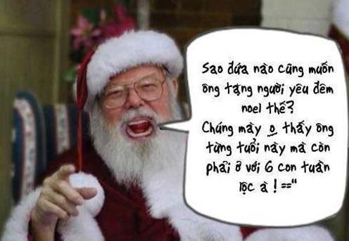 Hình hài hước về ông già Noel