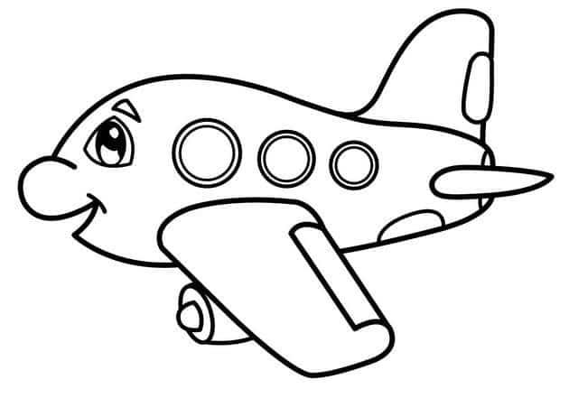 Hình máy bay ngộ nghĩnh cho bé tập tô siêu đáng yêu