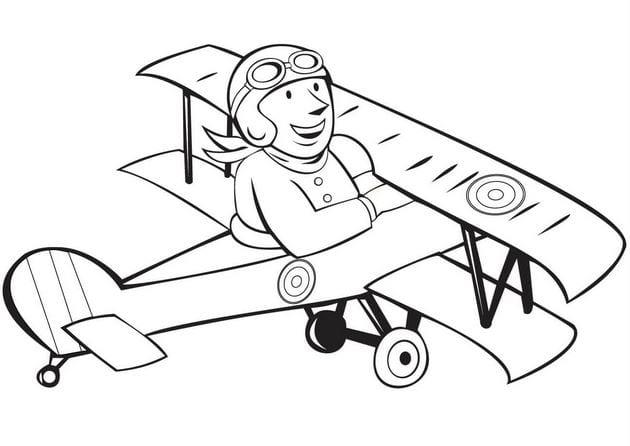 Hình máy bay ngộ nghĩnh cho bé tập tô