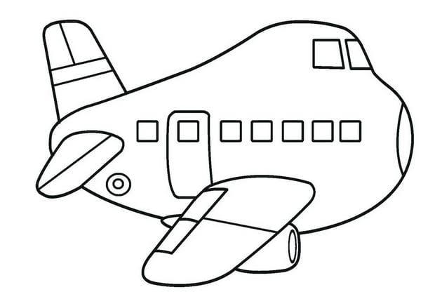 Hình máy bay ngộ nghĩnh cho bé