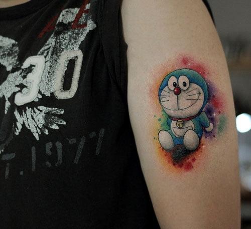 Hình tattoo Doraemon ngầu chất nhất