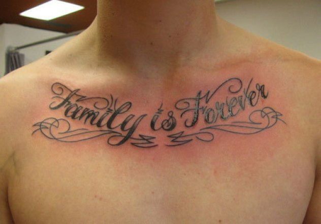 Hình tattoo Family Is Forever đẹp