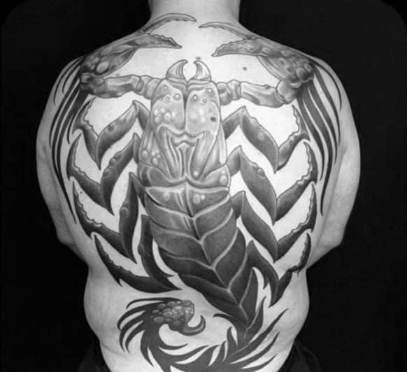 Hình tattoo bọ cạp kín lưng chất