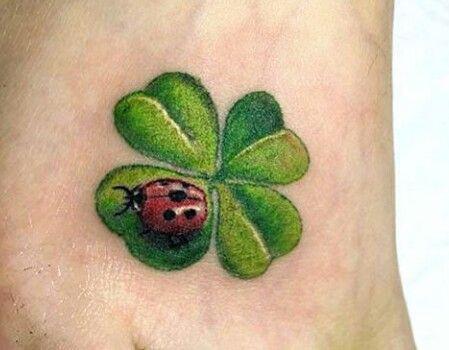 Hình tattoo cỏ 4 lá 3D cực xinh