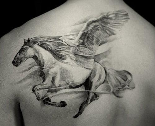 Hình tattoo con ngựa bay đẹp