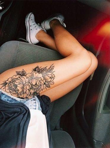 Hình tattoo đẹp ở đùi nữ