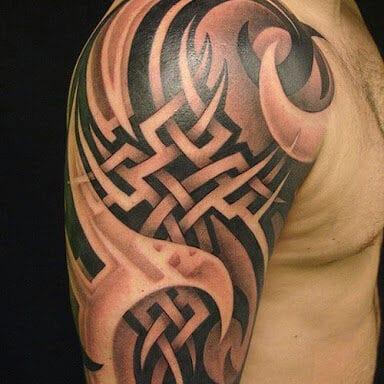 Hình tattoo hoa văn bắp tay 3d cực đẹp