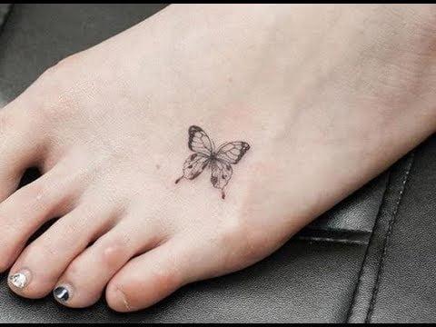 Hình tattoo mini nhỏ ở chân