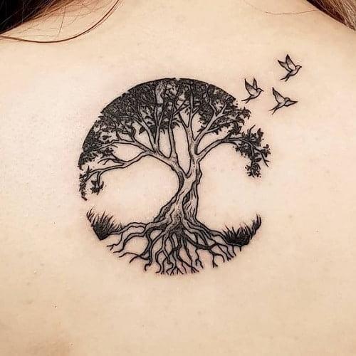 Hình tattoo nhỏ cho nữ mệnh Mộc