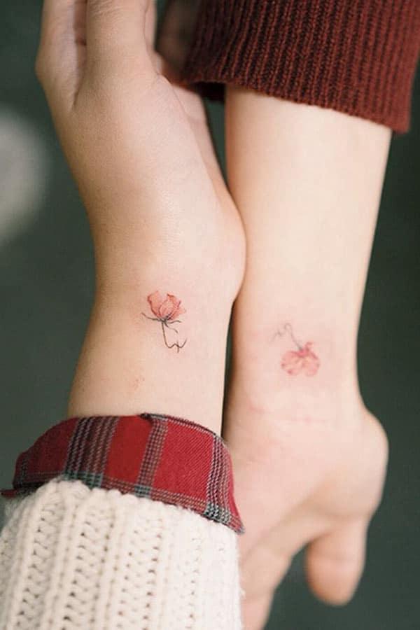 Hình tattoo nhỏ xinh cho cặp bạn thân