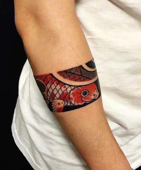 Hình tattoo vòng tay cá chép đẹp