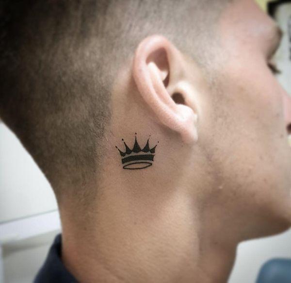 Hình tattoo vương miện mini cho nam