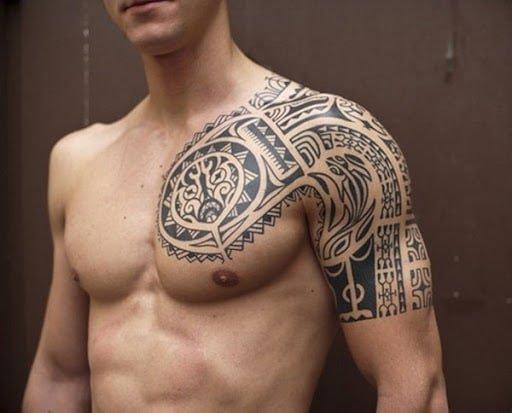 Hình tattoo xăm hoa văn đẹp cho con trai