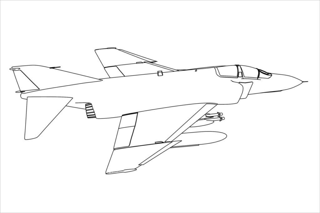 Hình tô màu máy bay chiến đấu đẹp nhất