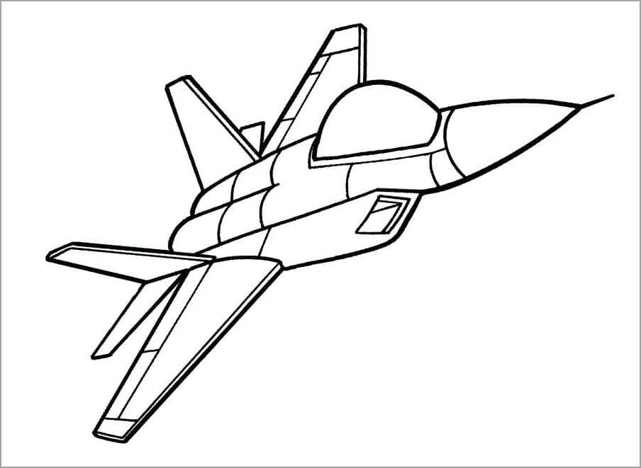 Hình tô màu máy bay chiến đấu