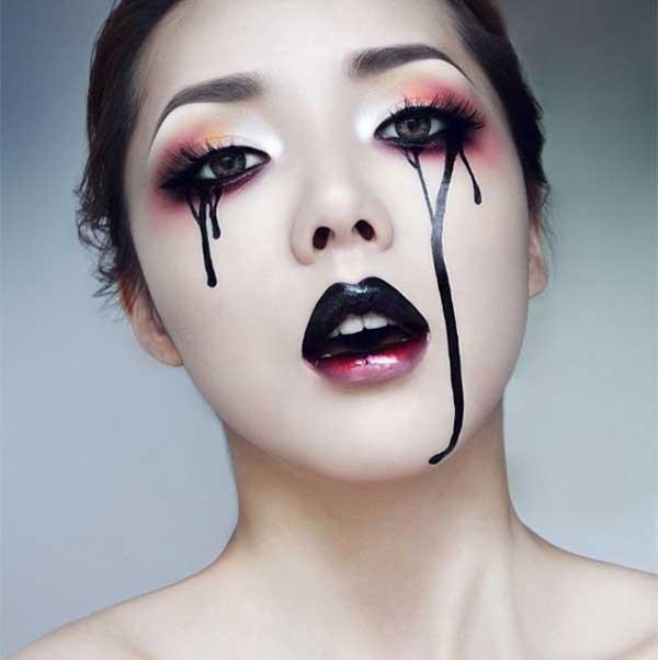 Hình vẽ Hallowen ấn tượng trên mặt