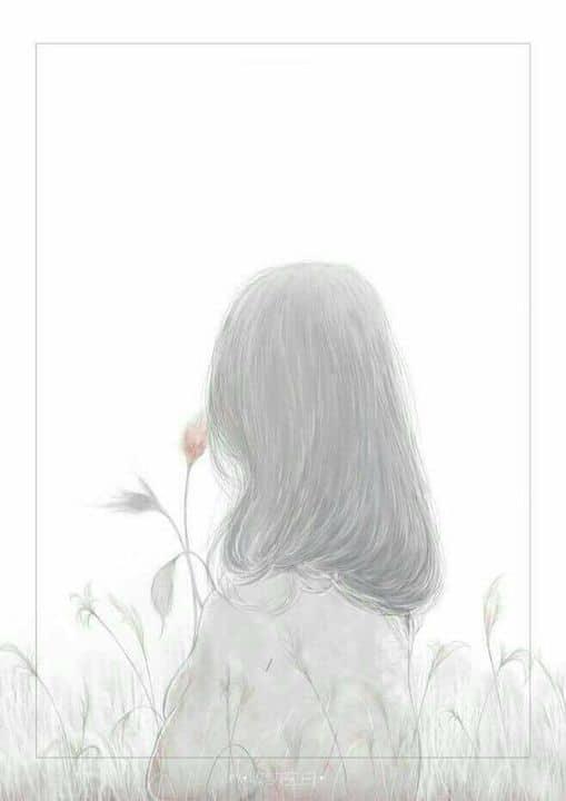Hình vẽ buồn về con gái