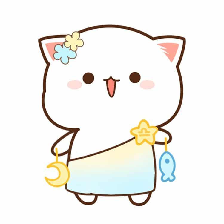 Hình vẽ mèo cực đáng yêu