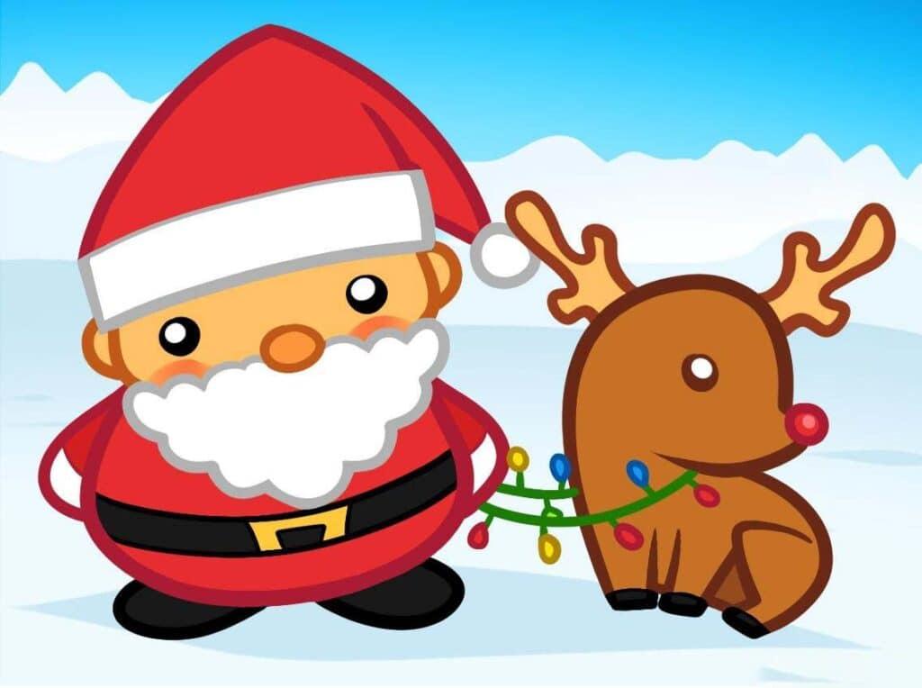 Hình vẽ ông già Noel ngộ nghĩnh