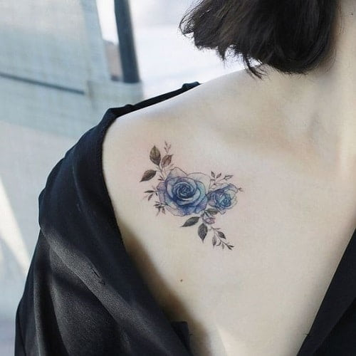 Hình xăm bông hồng nhỏ