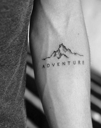 Hình xăm kiểu ngọn núi đơn giản và đẹp