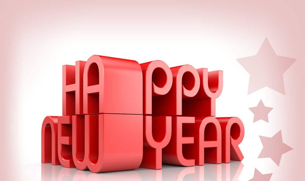 Kiểu chữ hình chúc mừng năm mới đẹp