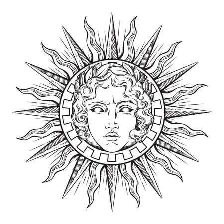 Kiểu tattoo thần mặt trời dành cho những bạn yêu thích hình tượng này