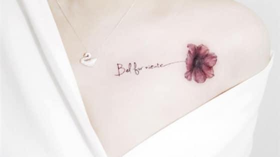 Kiểu tattoo trên xương quai xanh gợi cảm dành cho nữ