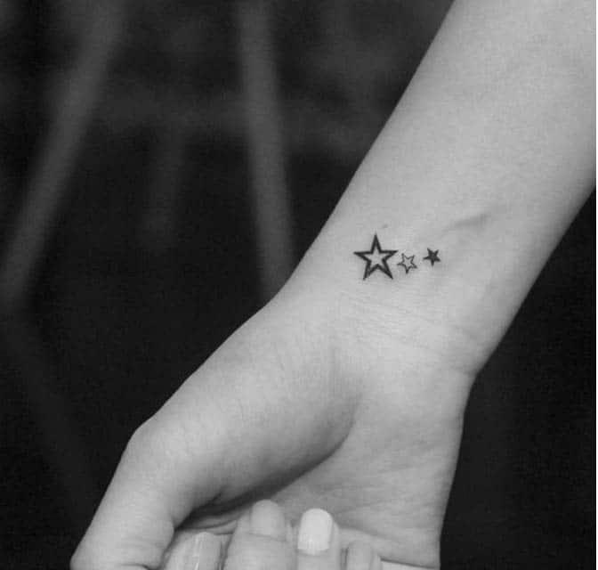 Kiểu xăm ngôi sao mini nhỏ nhắn và dễ thương