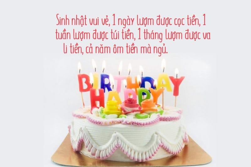 Lời chúc mừng sinh nhật vui vẻ