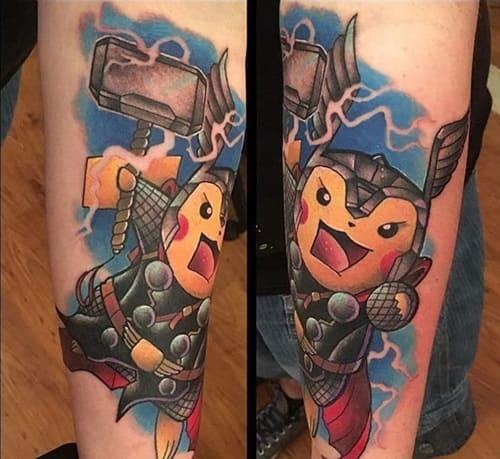 Mẫu Hình Tattoo Xăm Pikachu Vorlage